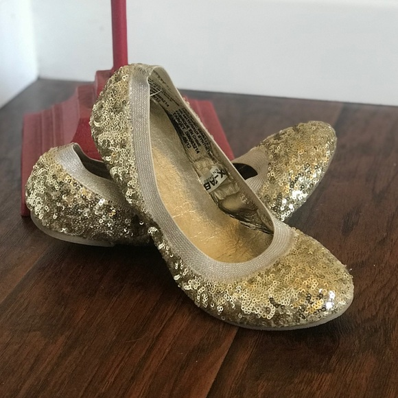 Mossimo Gold Sequin Ballet Flats Size 7